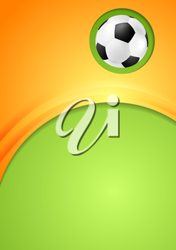 Abstract waves football sport background. Vector design