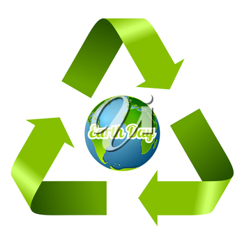 Earth Day design with recycle arrows. Vector graphic corporate ecology background