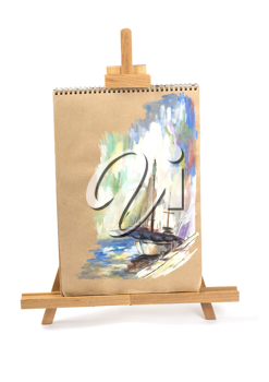 Royalty Free Photo of a Painting of a Yacht
