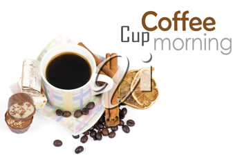 Royalty Free Photo of a Cup of Coffee With Sweets