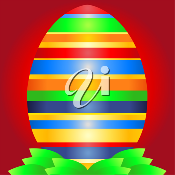 Royalty Free Clipart Image of an Easter Egg Background