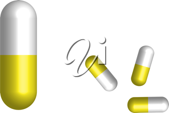 Royalty Free Clipart Image of Pills