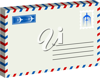 Royalty Free Clipart Image of an Envelope