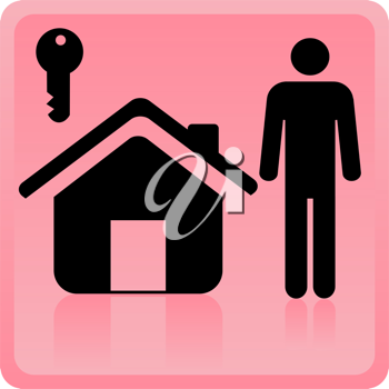 Royalty Free Clipart Image of a Person Icon