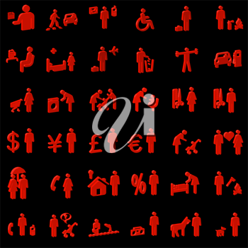 Royalty Free Clipart Image of People Icons