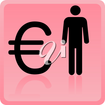 Royalty Free Clipart Image of a Business Icon