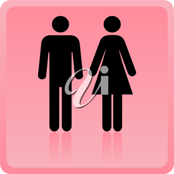 Royalty Free Clipart Image of Two People
