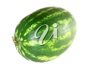 ripe watermelon isolated on white background