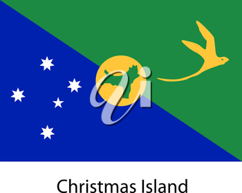 Flag  of the country  christmas island. Vector illustration.  Exact colors.