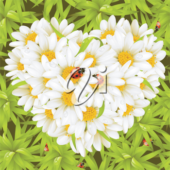 Royalty Free Clipart Image of a Flowers making a Heart