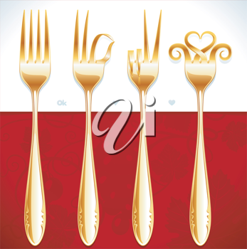 Royalty Free Clipart Image of a Forks