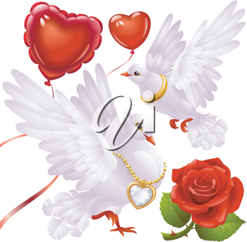 Royalty Free Clipart Image of Valentines Elements