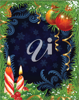 Royalty Free Clipart Image of a Holiday Frame