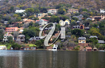 Royalty Free Photo of Holiday Homes at Hartbeespoort Dam South Africa