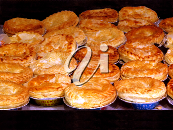 Royalty Free Photo of Fresh Meat Pies Baking