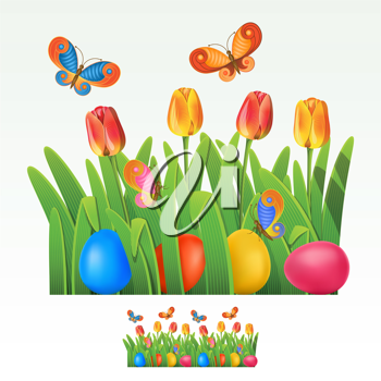 Royalty Free Clipart Image of an Easter Egg Header