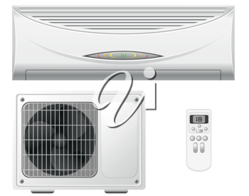 Royalty Free Clipart Image of Air Conditioners