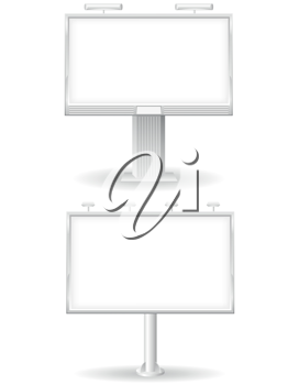 Royalty Free Clipart Image of a Blank Billboard