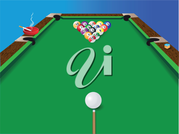 Royalty Free Clipart Image of Billiards
