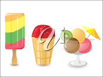 Royalty Free Clipart Image of Ice Cream