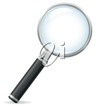 Royalty Free Clipart Image of a Magnifying Glass