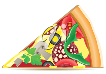 Royalty Free Clipart Image of a Pizza slive
