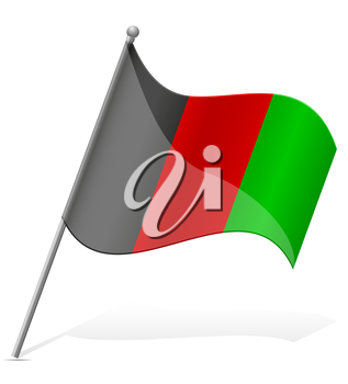 flag of Afghanistan vector illustration isolated on white background