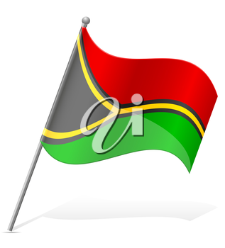 flag of Vanuatu vector illustration isolated on white background