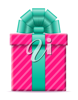 gift box with a bow vector illustration isolated on white background
