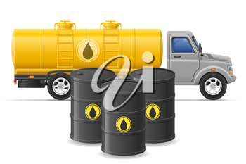 cargo truck delivery and transportation of fuel for transport concept vector illustration isolated on white background