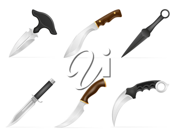 combat knife weapon for killing vector illustration isolated on background
