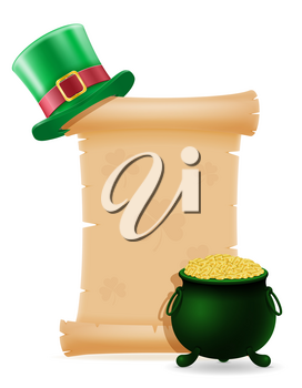 items and attributes of the national holiday of saint patrick vector illustration isolated on white background