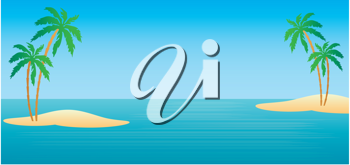 Royalty Free Clipart Image of Tropical Islands