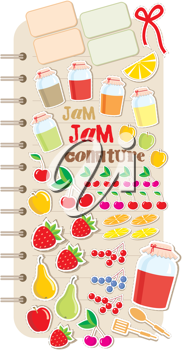 Royalty Free Clipart Image of Food Elements