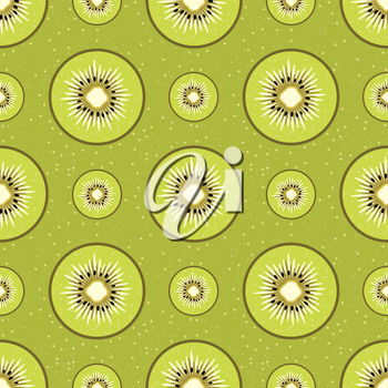 Background with kiwi. vector