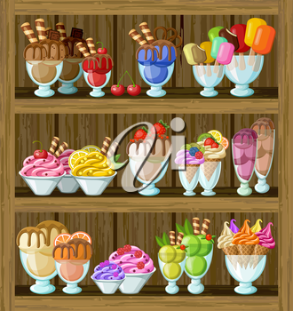 Picture of a ice cream shop.