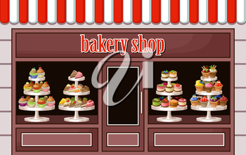 Image of a store sweets and bakery. vector illustration