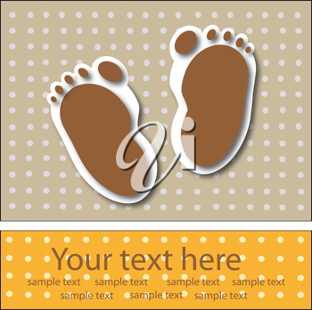 Royalty Free Clipart Image of a Footprint Invitation