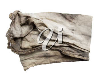 dirty rag on a white background