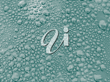 Background of water drops on the glass