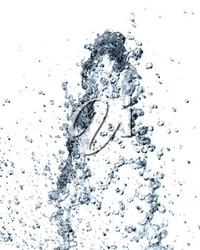 with splashes of water on a white background