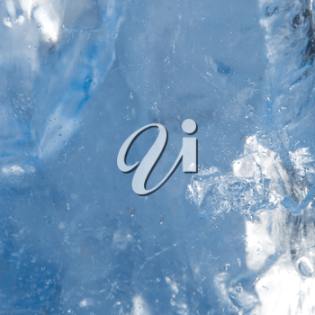 background of cold ice. macro