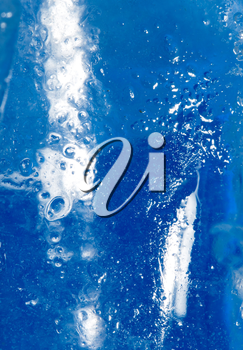 background of cold blue ice