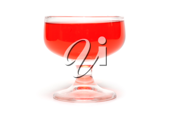 Royalty Free Clipart Image of a Glass of Jelly