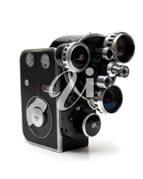 Royalty Free Photo of an Old Movie Camera