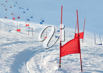 Royalty Free Photo of Ski Gates With Flags