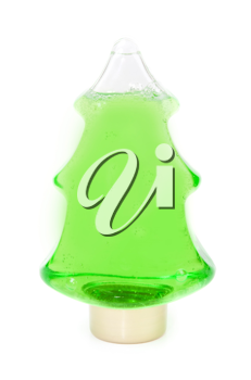 Royalty Free Photo of a Christmas Tree Shampoo Bottle