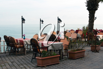 Royalty Free Photo of an Outdoor Cafe in Turkey