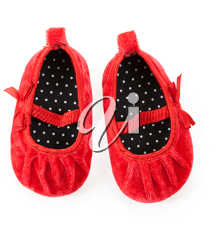 Royalty Free Photo of a Pair of Baby Booties
