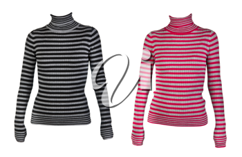 Royalty Free Photo of Striped Tops